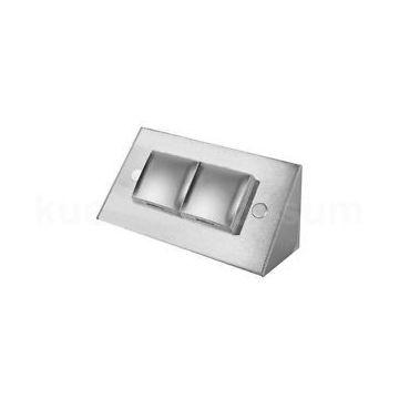 2-voudig stopcontact met klep roestvrijstaal VST3900MK 17916