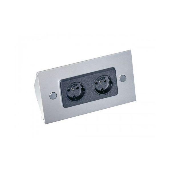 2-voudig stopcontact roestvrijstaal VST3900 17906