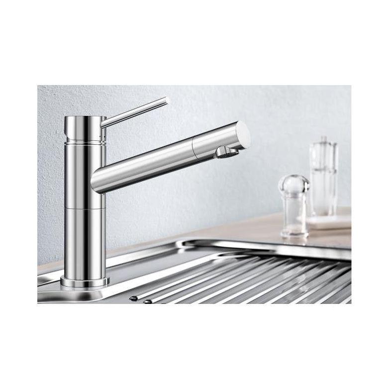 Blanco Alta-S Compact Vario keukenkraan chroom uittrekbare uitloop 518407