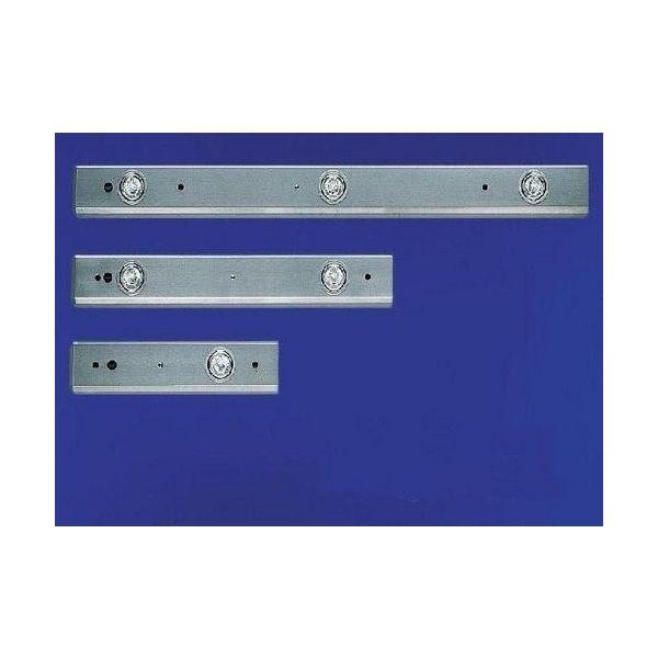Doorkoppelbare halogeenbalk RVS 700 MM 2 spots 22156