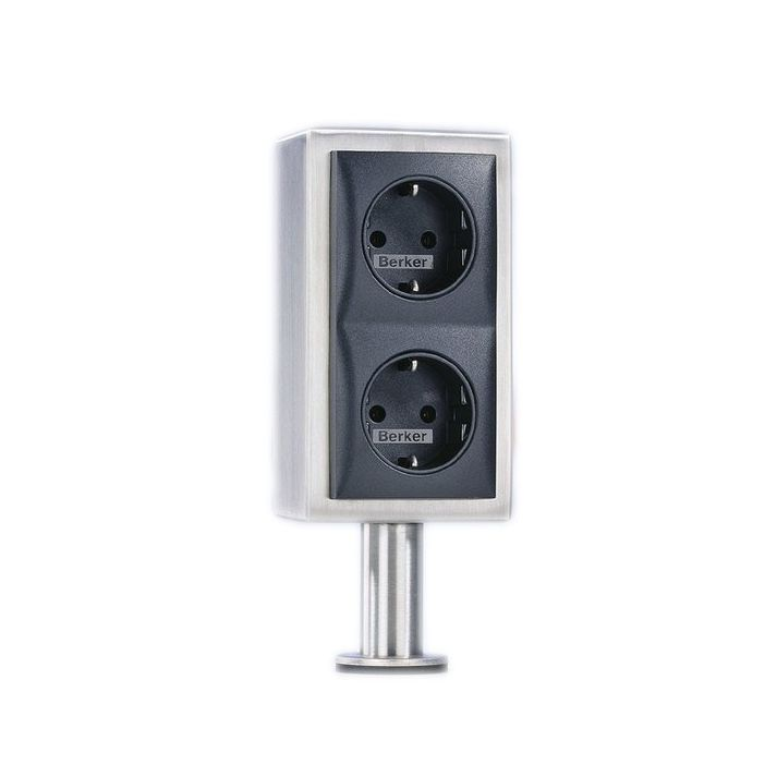 Kookeiland stopcontact 2 voudig RVS VSAT2V 17006 V