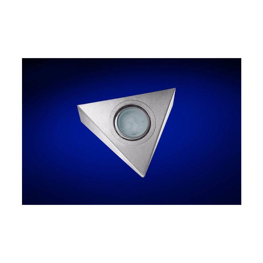 LED Armatuur driehoek RVS 1 spot zonder trafo VLA589