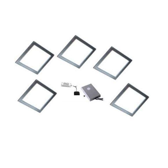 Led verlichting vierkant met kleurwisseling Set van 5