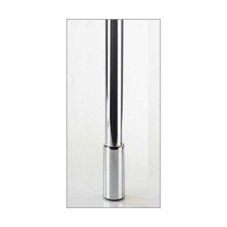 Tafelpoten 685 tot 785 mm verstelbaar RVS-Look