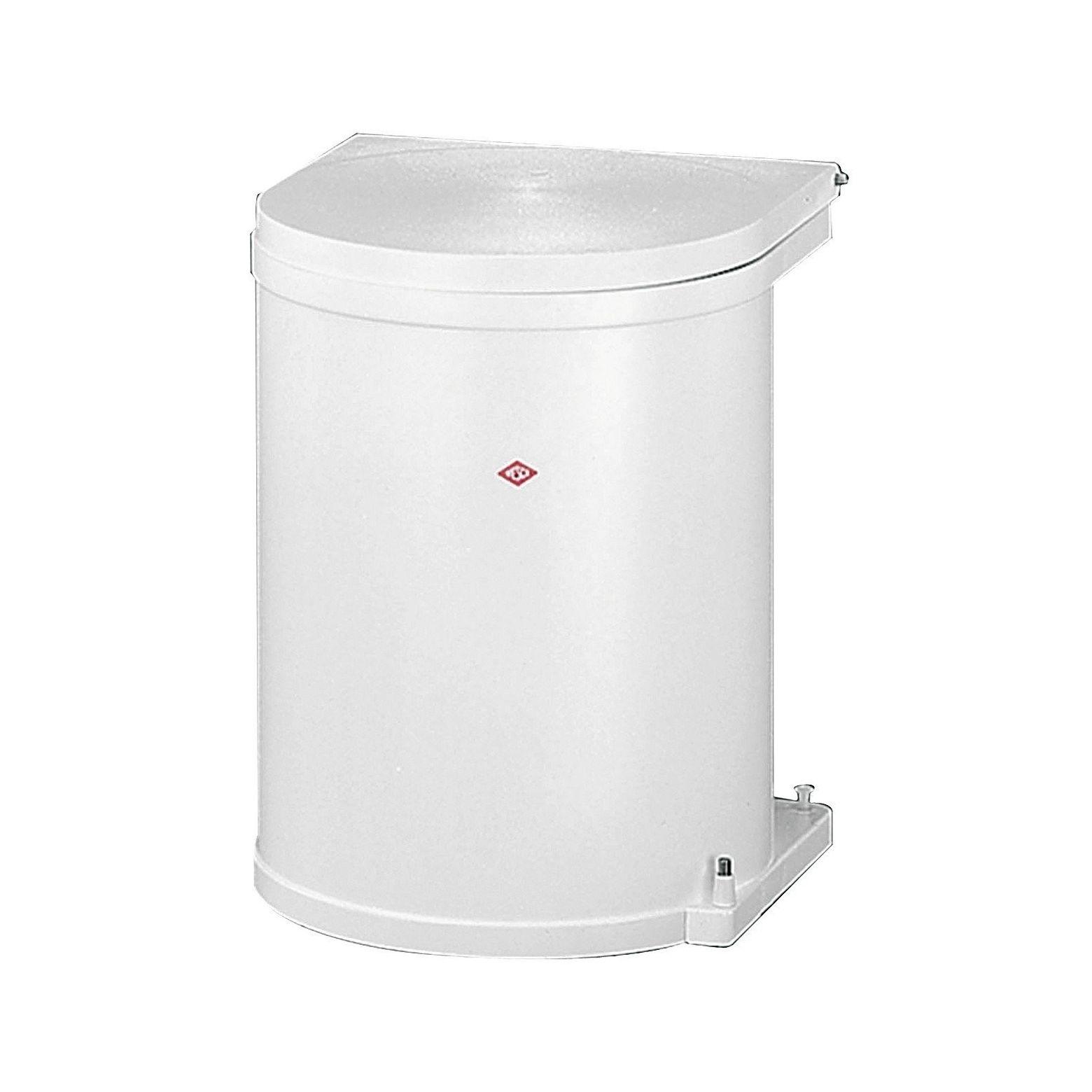 Wesco inbouw prullenbak rond 11 Liter Wit