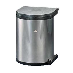 Wesco inbouw prullenbak rond 13 Liter Rvs